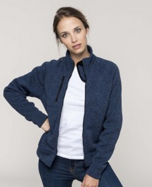 LADIES' FULL ZIP HEATHER JACKET K9107 03.KA.1.L98