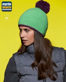 POMPON HAT WITH CONTRAST STRIPE MB7964 10.MB.4.F15