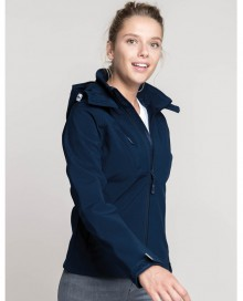 LADIES' HOODED SOFTSHELL JACKET K414 02.KA.1.M37