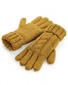 CABLE KNIT MELANGE GLOVES B497 12.BF.4.N97