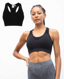 LADIES` SEAMLESS CROP TOP TL696 14.TO.1.P21