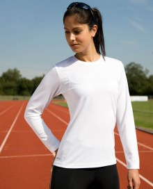 LADIES QUICK DRY PERFORMANCE LONG SLEEVE T-SHIRT S254F 05.SP.1.681